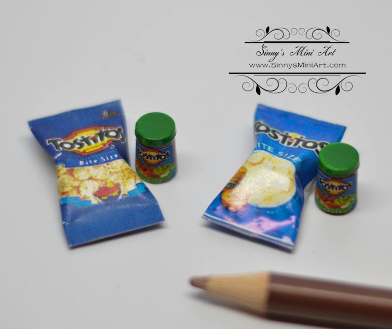1:12 Dollhouse Miniature Tostitos with Salsa / Miniature Food 54183S