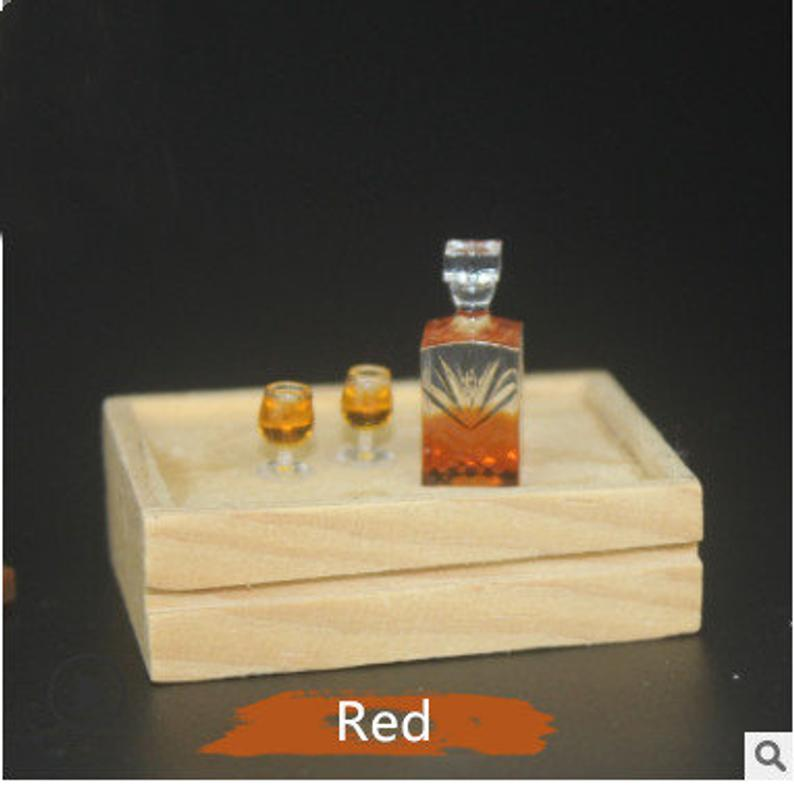 1:12 Dollhouse Miniature Whiskey / Miniature Alcohol Miniature Drink D122