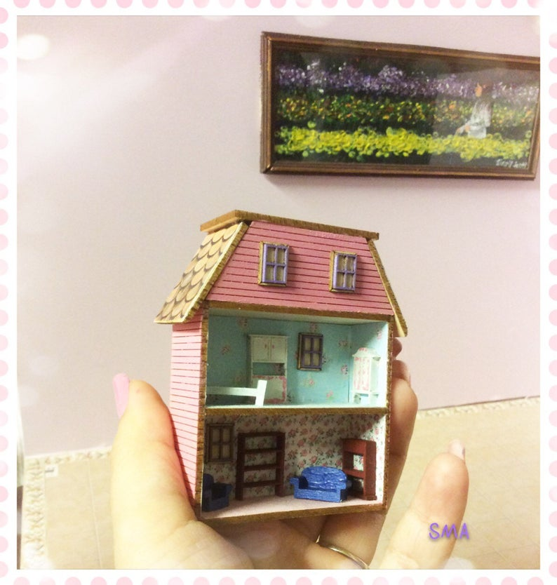 1:144 DIY Dollhouse miniature laser cut house Kit DI FS435