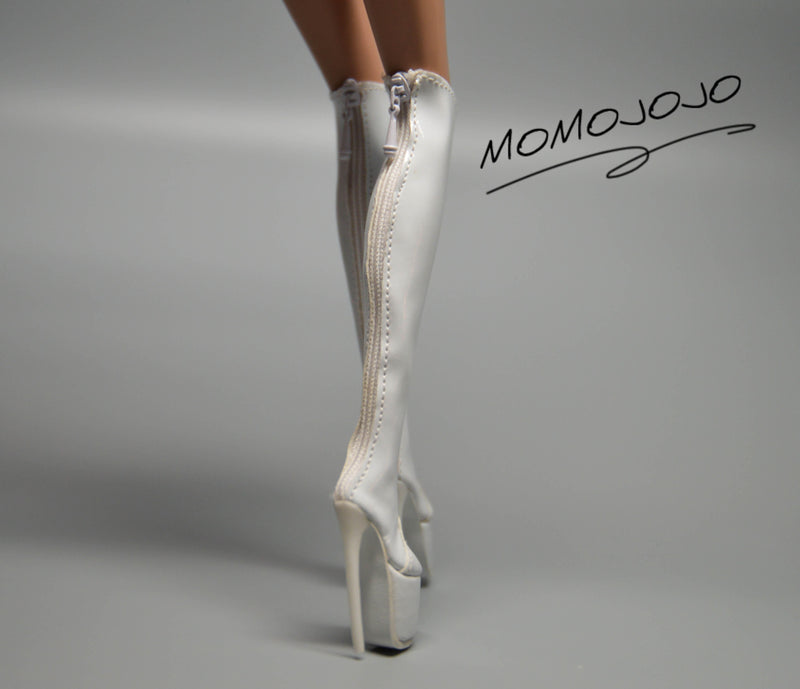 Luxury Miniature Doll Boots White MJ C51