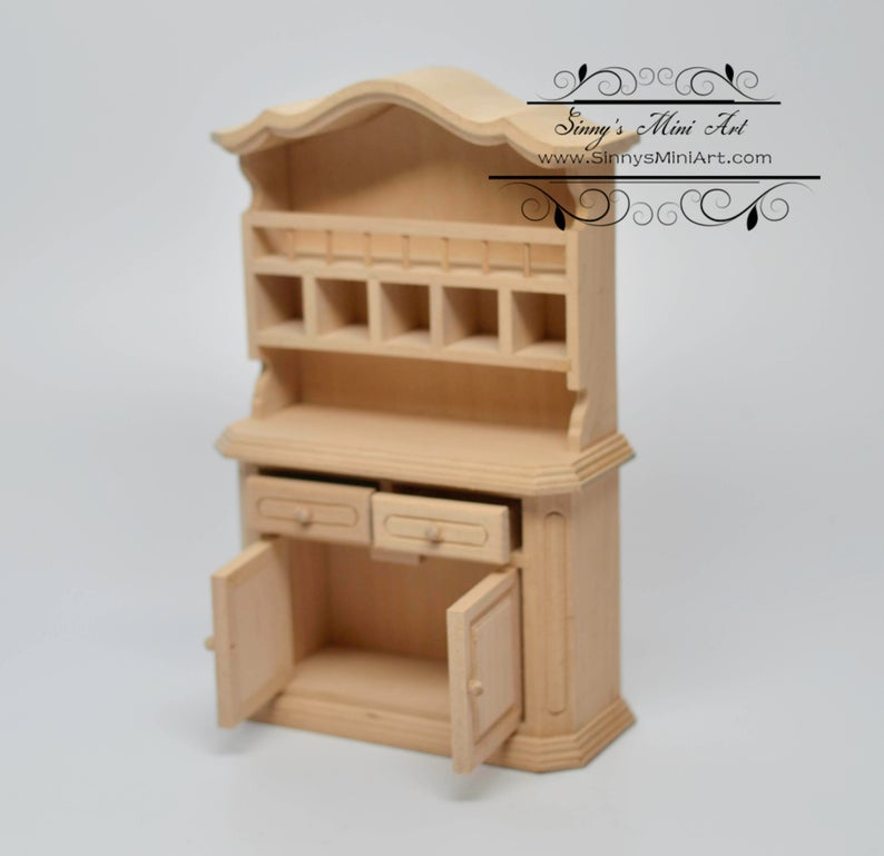 1:12 Dollhouse Miniature Unpainted Buffet/ Miniature Furniture AZ GWJ26