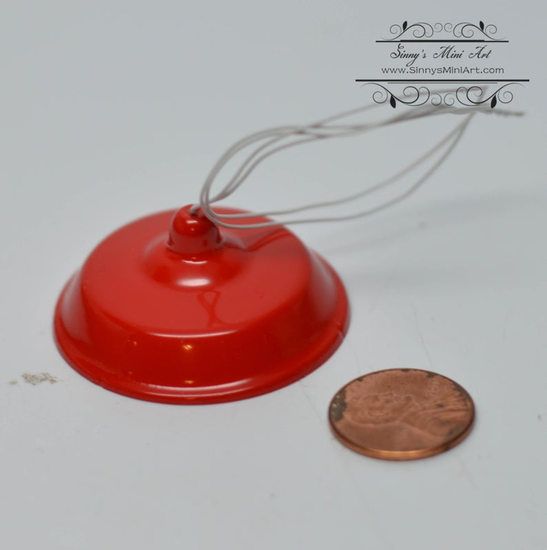 1:12 Red Utility Lamp 12V/ Miniature Light AZ DDL611R