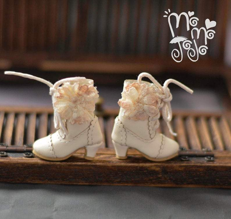 Shabby Chic Boots for Blythe Doll MD B43-2
