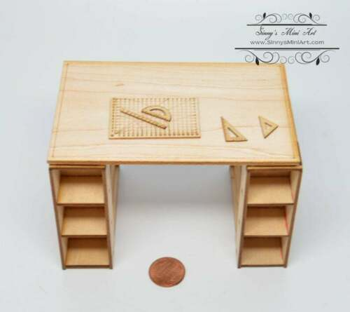 1:12 Dollhouse Miniature Craft Desk Kit SMA F003