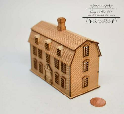 Kit 1:144 Laser Cut Dutch Colonial Dollhouse Kit /DIY Dollhouse SMA HS005