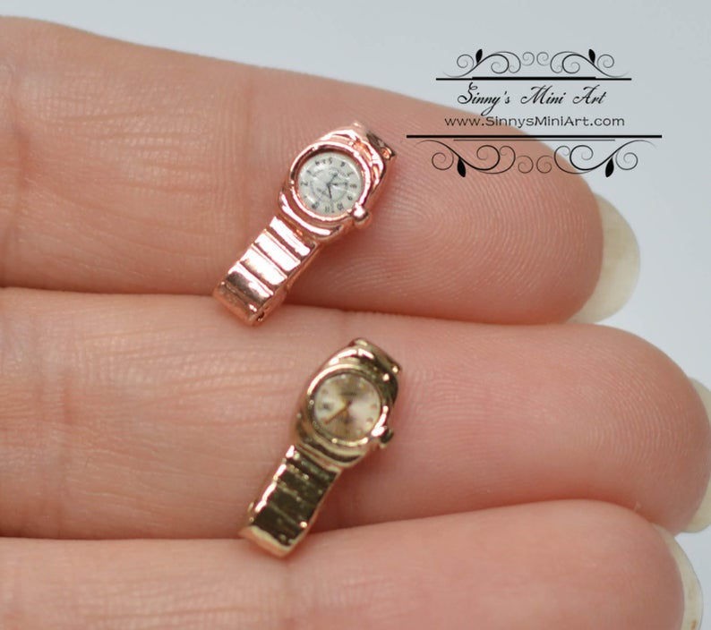 1:12 Dollhouse Miniature Watch/ Miniature Clock/ Doll Watch A17