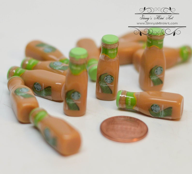 1:6 Dollhouse Miniature Starbucks Coffee/ Doll Miniature Coffee Matcha C55