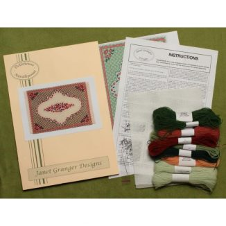 Barbara large (green) dollhouse needlepoint carpet kit JGD 3109