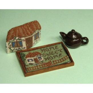 1:12 Dollhouse Needlepoint Rray Cloth kit –  Cottage JGD 2303
