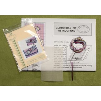 Dollhouse Needlepoint Clutch Bag Kit – Diagonal Stripe JGD 2606