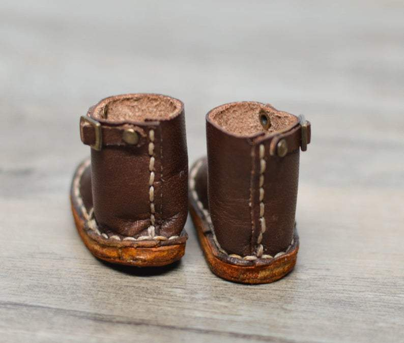 Hand Made Leather Boot (Brown) / Shoes for Blythe/ Azone/ Licca/Pullips HM B1-BR