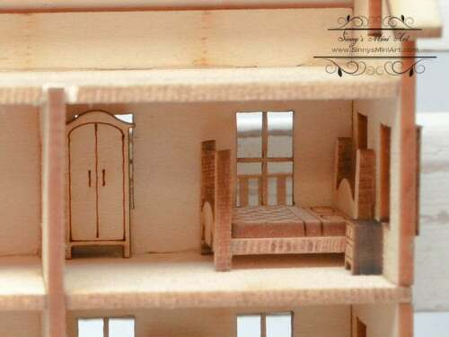1:144 Laser Cut Dollhouse Four Room Furniture Kit / DIY Dollhouse Miniatures