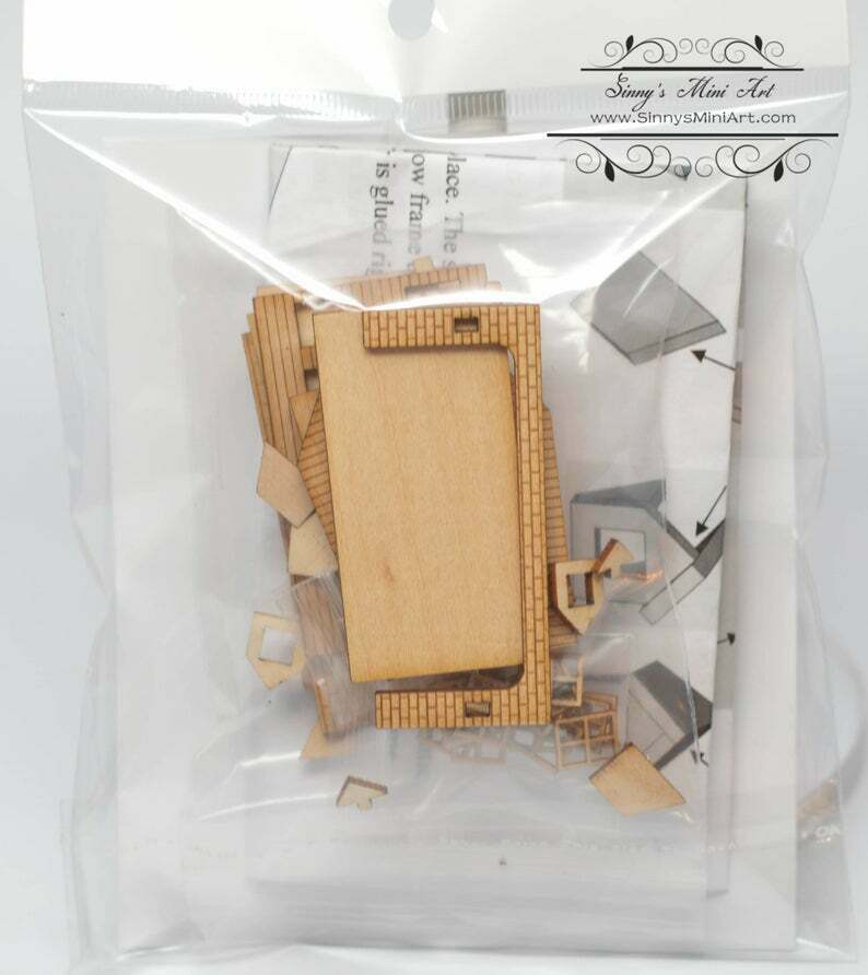 Kit 1:144 Laser Cut Colonial Dollhouse Kit (Engraved)DIY dollhouse/DIY Dollhouse HS001