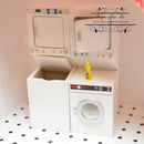 1:12 Dollhouse Miniature Stacked Washer and Dryer/ Laundry AZ T5492 5493
