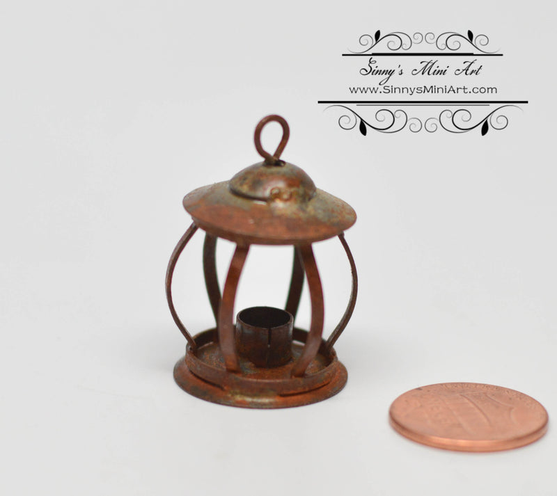 1:12 Dollhouse Miniature Small Rusted Lantern AZ EIWF621