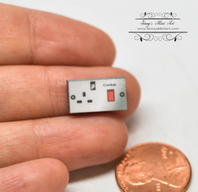 1:12 Dollhouse Miniature Cooker Switch and Socket DMUK M344