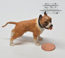 1:12 Dollhouse Miniature Standing Boxer/ Brown Dog Mini Pet HH A4648BR