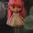 Shabby Chic Old Dress with Leggings for Blythe MJ A64