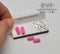 1:12Dollhouse Miniature Beauty Pink Rollers and Clips IBM MIS0114
