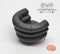 1:12 Dollhouse Miniature Barrel Chair Black/ Miniature Furniture AZ S8008B