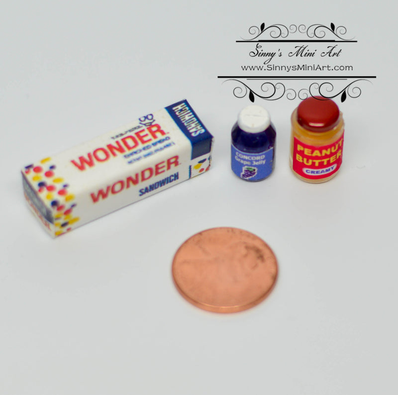 1:12 Dollhouse Miniature Penut Butter and Jelly Set 54047