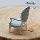 1:12 Dollhouse Miniature Jefferson Louis XVI Armchair AZ T5601