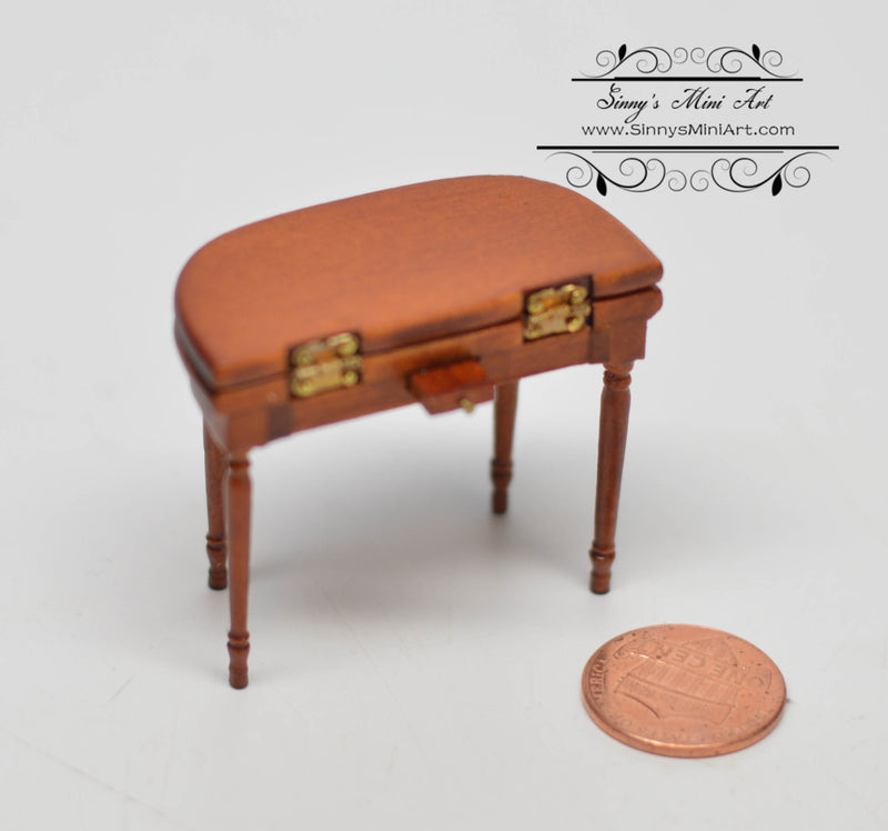 1: 24 Dollhouse Miniature Jeff Card Table Walnut AZ T6922