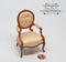 1:12 Dollhouse Miniature George 111 Open Armchair Furniture AZ JJ06040WN