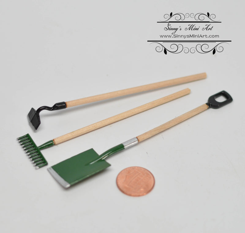 1:12 Dollhouse Miniature Gardening Tool Set D140