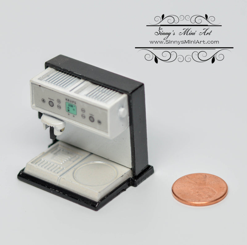 1:12 Dollhouse Miniature Espresso Coffee Machine Barista Machine B23