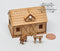 Kit 1:144 Laser Cut Stable Dollhouse Kit/Barn Dollhouse /DIY Dollhouse SMA HS003