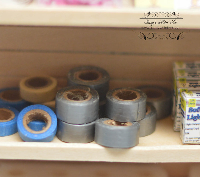 1:12 Dollhouse Miniature Heavy Duty Grey Tape/ Miniature Masking Tape 56112