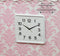 1: 12 Dollhouse Miniature Square Clock White A73