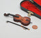 1:24 Dollhouse Miniature Cello with Case/ Miniature Instrument E44