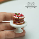 1:12 Dollhouse Miniature 3 Tier Fruits Cake /Miniature Desert HMN 1521
