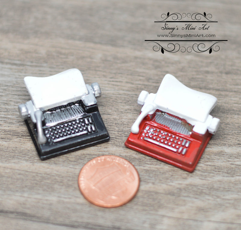 1: 12 Dollhouse Miniature Typewriter Office Supply A85