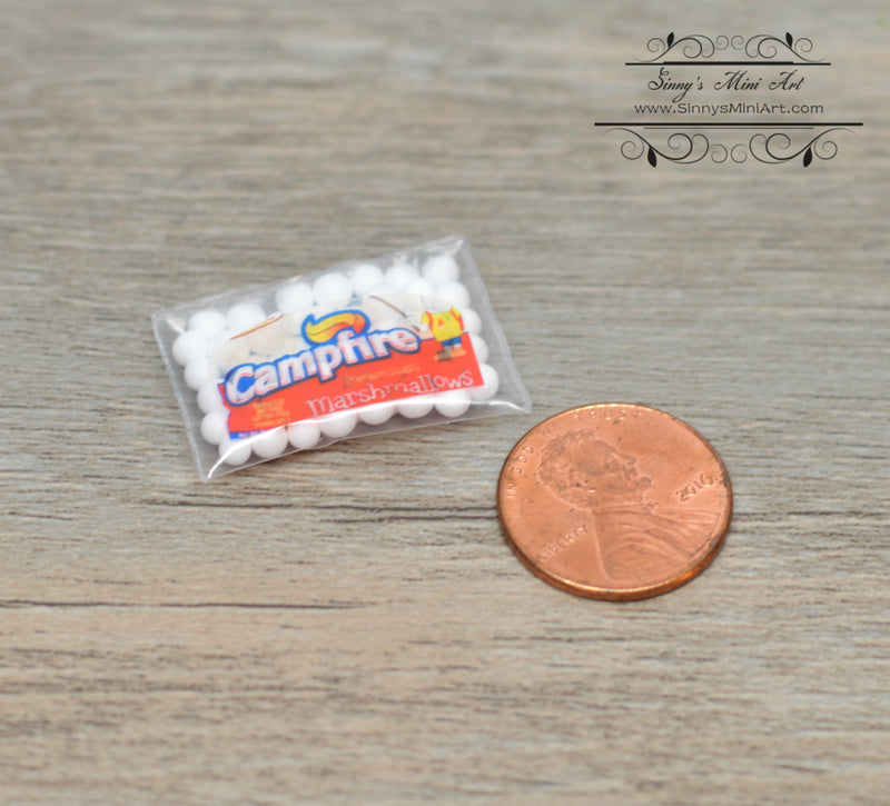 1:12 Dollhouse Miniature Bag of Marshmallows BD H531
