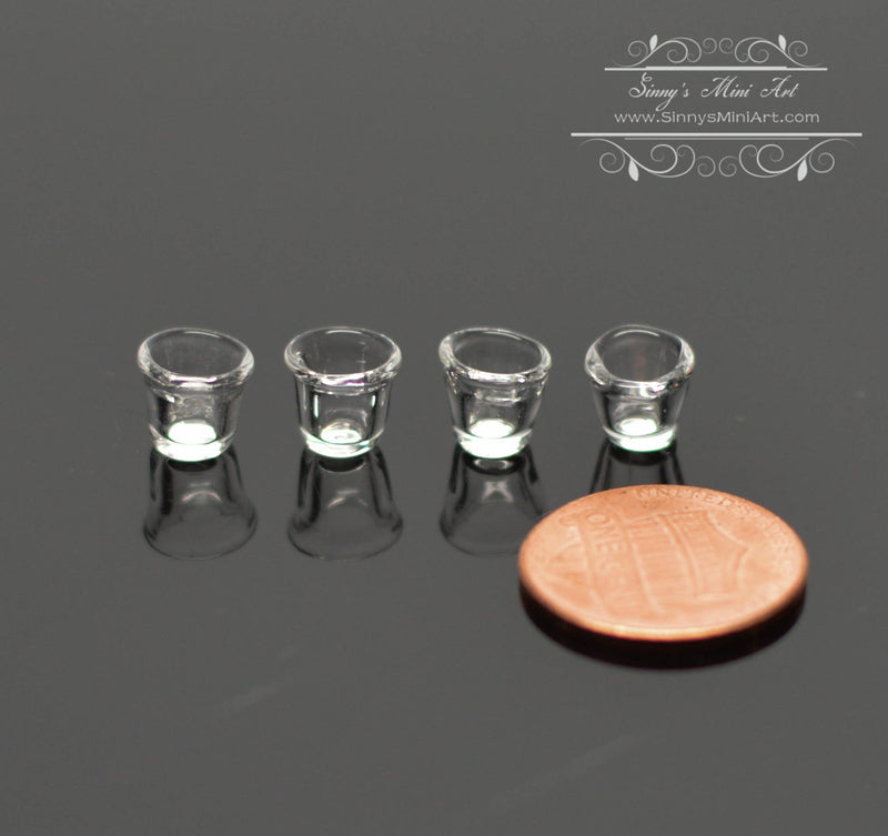 1:12 Dollhouse Miniature On the Rocks Glass Set of 4 BD HB108