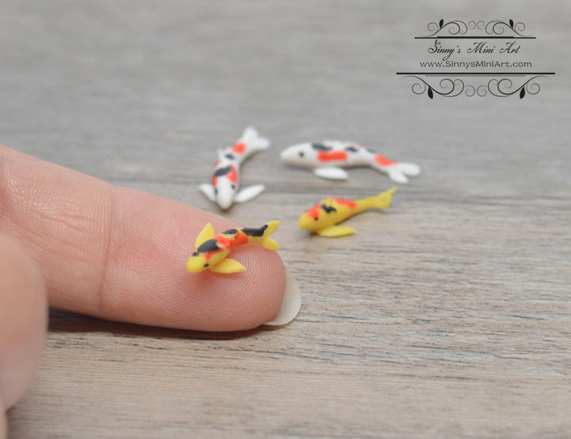 1:12 Dollhouse Miniature Japanese Koi, Set of 4 BD MW004