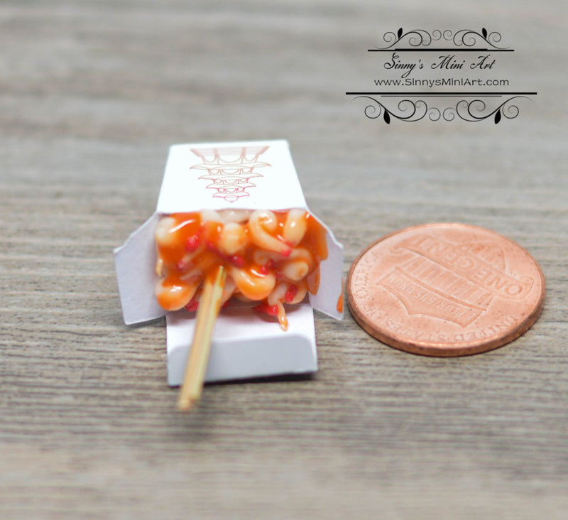 1:12 Dollhouse Miniature Sweet Sour Chinese Takeout BD F228