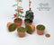 1:12 Dollhouse Miniature Clay Pottery Planter with Soil/Miniature Gardening HMN 1580