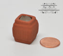 1:12 Dollhouse Miniature Square Terra Cotta Planter BD B1011