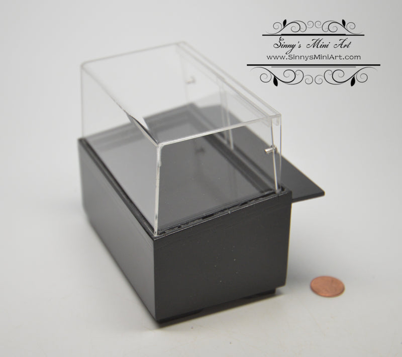 1: 12 Dollhouse Miniature Black Short Display Cabinet BD SC36