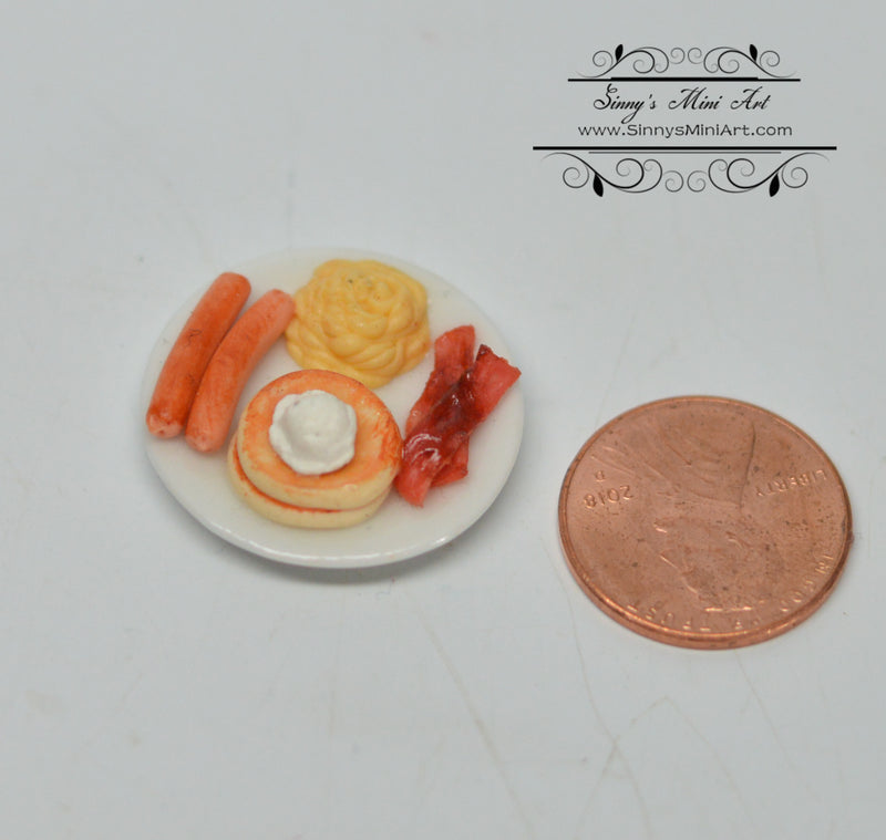 1:12 Dollhouse Miniature Egg with Pancake Breakfast BD F103