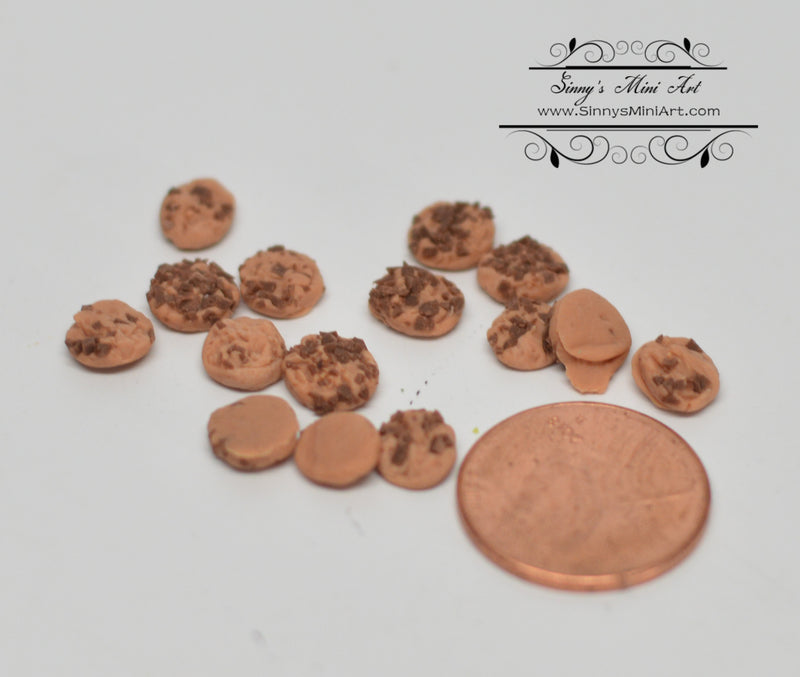 1: 12 Dollhouse Miniature Chocolate Chip Cookies BD K2777