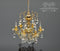 1:12 Dollhouse Miniatures Renaissance 6 Up-Arm Crystal Chandelier HH CK3020