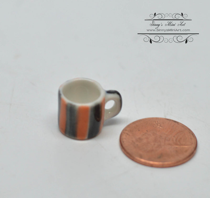 1:12 Dollhouse Miniature Small Square Light Clay Pot with Saucer BD B463