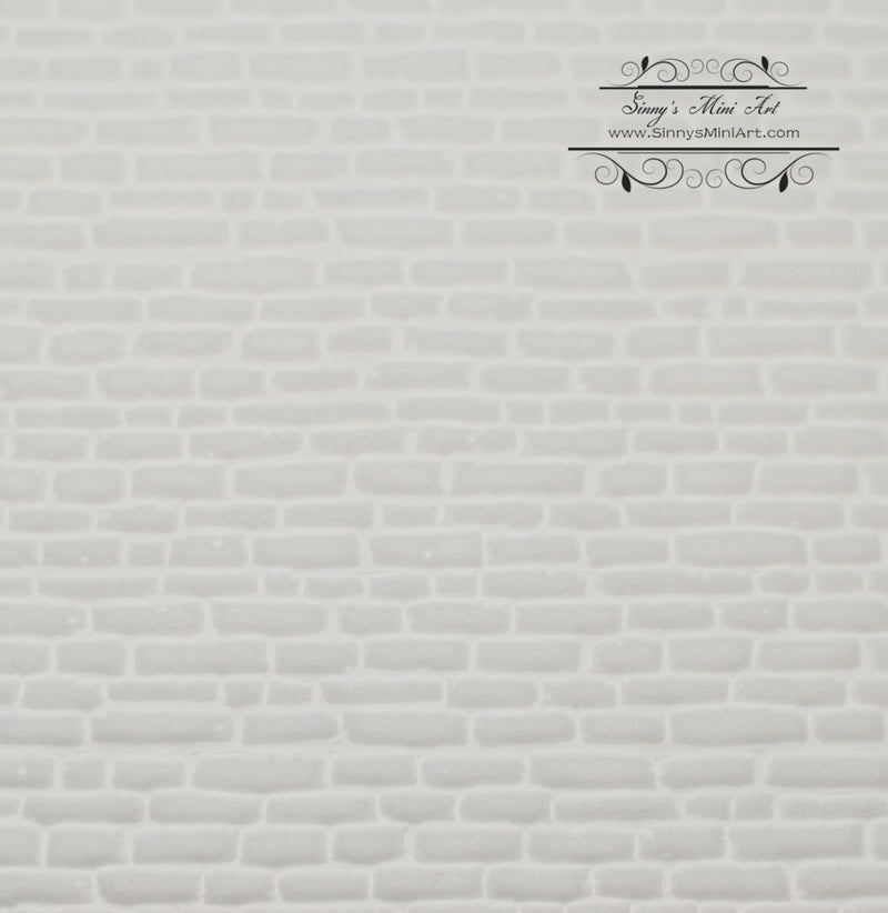 1:12 Dollhouse Miniature White Stone and Brick Panel/ AZ WM34921