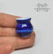 1:12 Dollhouse Miniature Blue Ceramic Planter Vase/ Miniature Home HMN 1448