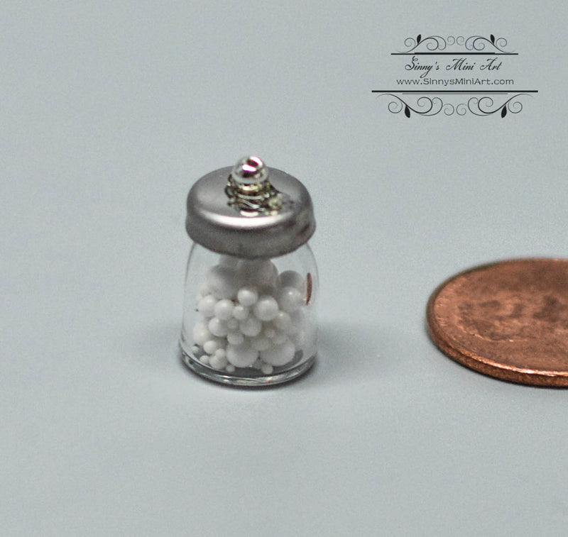 1:12 Dollhouse Miniature Cotton Balls in Jar/Miniature Bathroom HH MUL2493